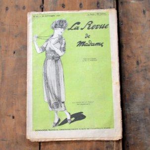 ビンテージ フレンチマガジン<br>LA REVUE DE MADAME 1920年9月号
