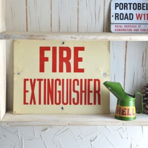 ビンテージ FIRE EXTINGUISHER <br> サインプレート