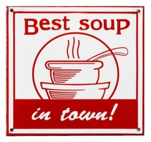 THE OLDE FARMHOUSE  エナメルサインプレート<br>Best soup