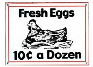 THE OLDE FARMHOUSE  エナメルサインプレート<br>Fresh Eggs