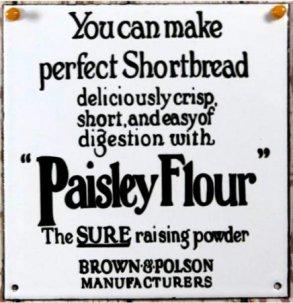 THE OLDE FARMHOUSE  エナメルサインプレート<br>Paisley Flour