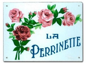THE OLDE FARMHOUSE  エナメルサインプレート<br>LA PERRINETTE