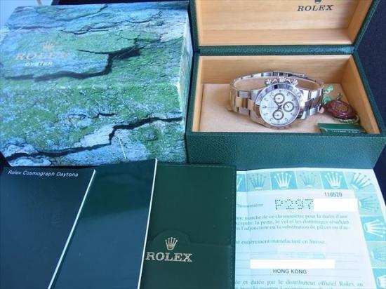 reputable site a98cc 676b8 ROLEX Daytona デイトナ 116520 最初期P2 アイボリー - 腕時計 ...