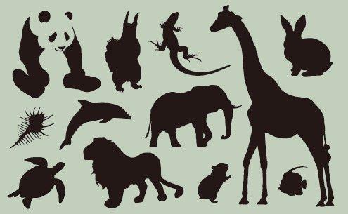 ワンポイントシルエット Animal(動物)
