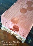 テーブルランナー センタークロス モダン 円 オレンジ レッド 橙 赤 朱色