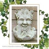 ガーデンプレート 壁掛け 掛型 グリーンマン 妖精 イギリス製