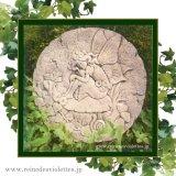 ガーデンプレート 壁掛け 掛型 妖精 蝶々 円 イギリス製