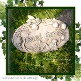 ガーデンプレート 壁掛け 掛型 妖精 秘密の庭 シークレットガーデン イギリス製