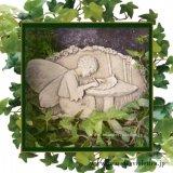 ガーデンプレート 壁掛け 掛型 妖精 手紙 ライティングリーフ イギリス製
