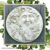 ガーデンプレート 壁掛け 掛型 グリーンマン どんぐり 森の妖精 円型 イギリス製