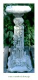 ガーデンコラム スタンド 花台 イギリス 石材 セメント ガーデンオーナメント オブジェ 蝶々 アイビー