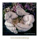バードフィーダー イギリス 石材 ガーデンオーナメント オブジェ 餌台 ハンド 小鳥