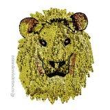 お家時間 ライオン 獅子 ゴールド アップリケ スパンコール ワッペン