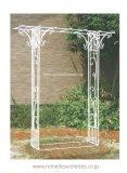 ガーデンアーチ バーゴラ ローズガーデンアーチ 白 ホワイト 藤棚 葡萄 日陰棚 つる棚 緑廊