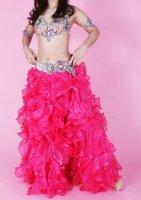 ベリーダンス用  ボリュームスカート  ピンク