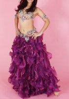 ベリーダンス用  ボリュームスカート  パープル