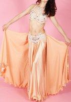 ベリーダンス衣装 オリエンタルコスチューム オレンジ×ベージュ