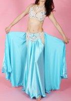 ベリーダンス衣装 オリエンタルコスチューム ブルー×ベージュ