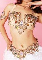 ベリーダンス衣装 プリンセス ブラ・ベルト・レッグ・アーム Designed by Sufel Boutique