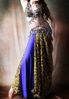 ベリーダンス衣装 レオパード×ロイヤルブルー Designed by Irina