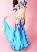 ベリーダンス衣装 ブルー×ロイヤルブルー Designed by Sufel Boutique