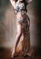 ベリーダンス衣装 ブロンズスパンコール Designed by Halla belly design