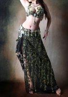 ベリーダンス衣装 グリーンスパンコール Designed by Yasser