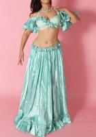 ベリーダンス衣装 オリエンタルコスチューム ミントグリーン