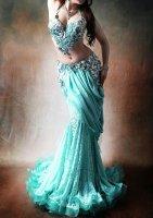 ベリーダンス衣装 アクアマリン Designed by Irina