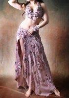 ベリーダンス衣装 オールドローズ Designed by Mamdouh salama
