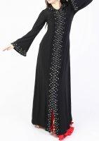 ガラベーヤ フード付 ブラック×ブラック Designed by Mamdouh Salama