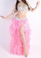ベリーダンス用  ボリュームスカート  ライトピンク