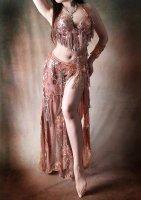 ベリーダンス衣装 ブロンズ Designed by Mamdouh salama