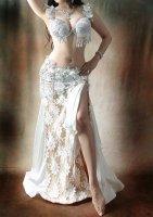 ベリーダンス衣装 ホワイト Designed by Hanan(ハナーン)