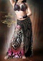 ベリーダンス衣装 ブラック Designed by Mamdouh salama