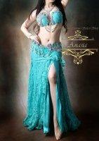 ベリーダンス衣装 アクアマリン Designed by Yasser
