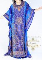 アバヤ ブルー エジプト製
