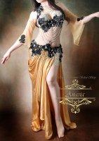 ベリーダンス衣装  ベージュゴールド Designed by Yasser