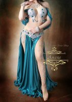 ベリーダンス衣装  ブルーグリーン Designed by Yasser