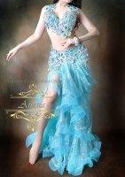 ベリーダンス衣装 ミントブルー Designed by Irina