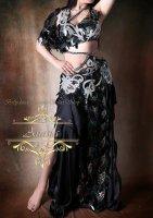 ベリーダンス衣装 ブラック Designed by Yasser