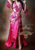 ベリーダンス衣装 ピンクスパンコール Designed by Yasser