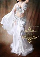 ベリーダンス衣装 ホワイト Designed by Irina