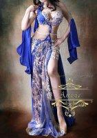 ベリーダンス衣装 ブルー Designed by Yasser