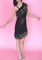 ベリーダンス衣装 ミラーヤドレス ブラック