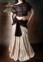 ベリーダンス衣装 ジプシースカート ティヤード ベージュ 20ヤード  ジプシー・フュージョン・普段着にも