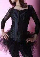 ベリーダンス衣装 トライバル シンプルコルセット ブラック