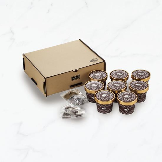 【オリジナル・デザインカップ】カカオが香るチョコレート・アイスクリームセット(8個入・送料込)