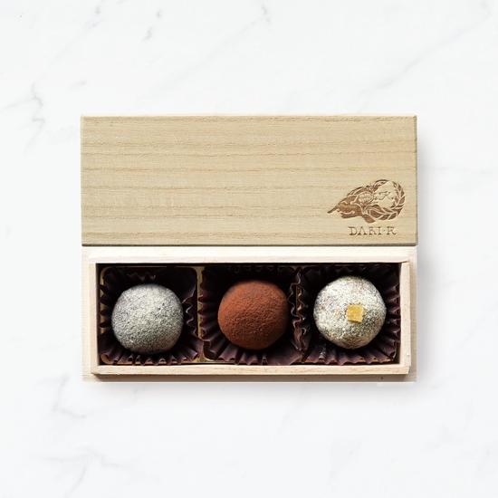 【3粒木箱入】カカオが香るチョコレート・トリュフ(2019)