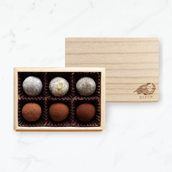 【6粒木箱入】カカオが香るチョコレート・トリュフ(2019)